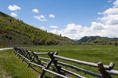 Campo Wyoming foto de archivo libre de regalías