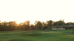 Campo y árboles del golf almacen de video