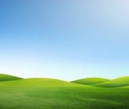 Campo y cielo verdes Imagen de archivo