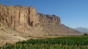 Campo y montañas agradables Foto de archivo libre de regalías