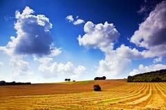 Campo y nubes foto de archivo
