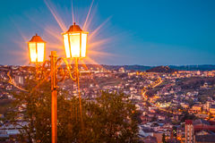 Campobasso in night. Street lamp of campobasso in night Stock Photography