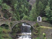campodolcino Roman Bridge royaltyfri bild