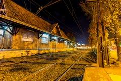 Campos κάνει Jordão, Βραζιλία Όψη πόλεων τη νύχτα Στοκ φωτογραφία με δικαίωμα ελεύθερης χρήσης