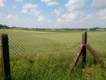 Campos agrícolas Fotos de archivo