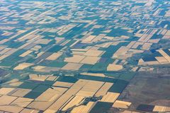 Campos agrícolas do sul de Rússia fotos de stock