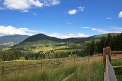 Campos & montanhas de Colorado Fotos de Stock
