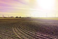 Campos arados em Áustria Fotos de Stock Royalty Free