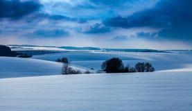 Campos cobertos de neve fotografia de stock royalty free
