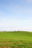 Campos com nuvens Fotos de Stock