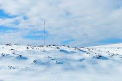 Campos cubiertos por la nieve Imagen de archivo libre de regalías