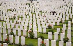 Campos de batalla salientes Bélgica de Tyne Cot Cemetery Zonnebeke Ypres imagen de archivo