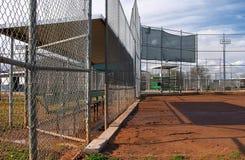 Campos de beísbol con pelota blanda Fotografía de archivo