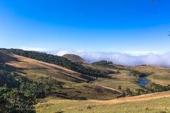 Campos de cima da serra. Green grass field in south Brazil, Rio Grande do Sul State Stock Images