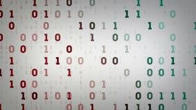 Campos de datos binarios blancos stock de ilustración