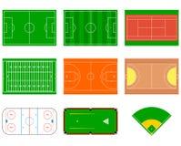 Campos de deporte Puede ser utilizado para la demostración, la educación, el planeamiento estratégico y otro propone Imagen de archivo libre de regalías