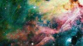 Campos de estrella en espacio almacen de video