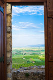 Campos de exploração agrícola na planície ao longo do Mar Egeu, Selcuk, Turquia Fotos de Stock Royalty Free