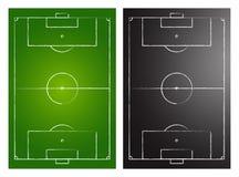 Campos de fútbol stock de ilustración