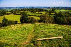Campos de Glastonbury imagem de stock