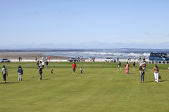 Campos de golf del St. Andrews cerca de la playa Fotografía de archivo