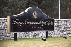 Campos de golf internacionales de Donald Trump Balmedie, Aberdeenshire, Escocia imágenes de archivo libres de regalías