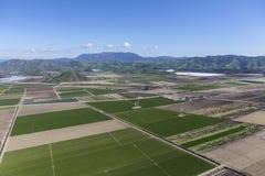 Campos de granja de Camarillo California aéreos Foto de archivo libre de regalías