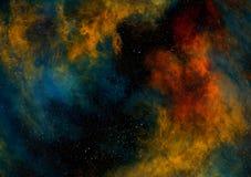 Campos de la nebulosa y de estrella en espacio profundo stock de ilustración