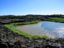 Campos de lava, Punta Moreno, pagos do ¡ de Galà Foto de Stock