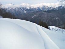 Campos de nieve Fotos de archivo libres de regalías