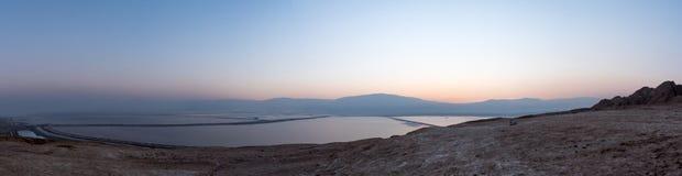 Campos de sal do Mar Morto Fotografia de Stock