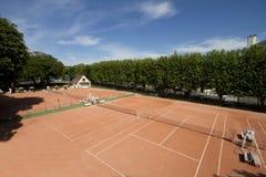 Campos de tenis fotos de archivo