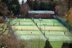 Campos de tenis Foto de archivo libre de regalías