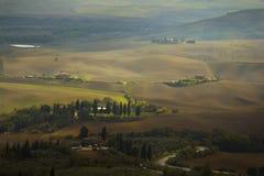 Campos de Toscana en otoño Fotografía de archivo libre de regalías