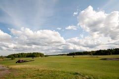 Campos del verde Imagenes de archivo