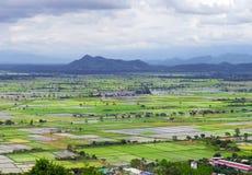 Campos do arroz de Myanmar Fotografia de Stock Royalty Free