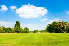 Campos do golfe foto de stock royalty free