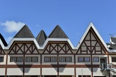 Campos do Jordao city. German architecture of the city of Campos do Jordao in the neighborhood of Capivari stock image