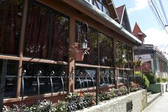 Campos doet Jordao-stad Stock Afbeeldingen