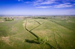 Campos e irrigación en Colorado Imagenes de archivo