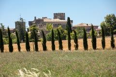 Campos e prados no vale abaixo de Sault, Provence fotos de stock royalty free