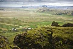 Campos em Islândia Fotografia de Stock Royalty Free