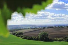 Campos em República Checa Localizado em Moravia sul foto de stock royalty free