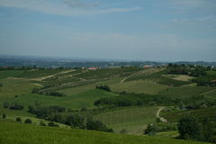 Campos en el Apennines boloñés Fotografía de archivo