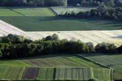 Campos en tierras de labrantío Foto de archivo libre de regalías