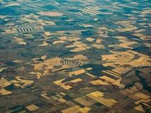 Campos fértiles en el AU de Queensland visto de arriba Foto de archivo libre de regalías