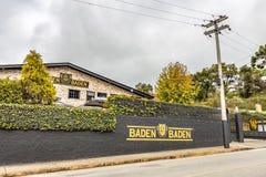 CAMPOS FA JORDAO, BRASILE - 3 LUGLIO 2017: Baden Baden Brewery immagine stock libera da diritti