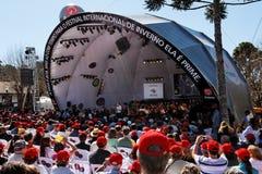 Campos faz o festival do inverno de Jordao Imagens de Stock Royalty Free