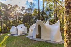 CAMPOS GÖR JORDAO, BRASILIEN - JULI 04, 2017: Felicia Lierner Museum Arkivbilder