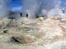 Campos geotérmicos Fotos de archivo libres de regalías